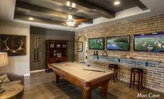 New home bar man cave tvs 24 Ideas Game Room Basement, Basement House, Basement Ideas, Basement Studio, Dark Basement, Flooded Basement, Basement Apartment, Basement Plans, Hallway Ideas