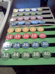 """""""Skip Counting"""" Interactive color coded Velcro Boards!"""
