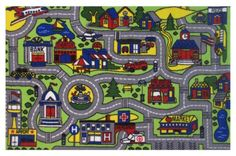 $20.57 Car-Play-Rug-Road-New-LA-Rug-Driving-Time-Play-Rug-19-X-29-FT-103