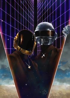 Daft Punk , Douglas Antonio Boschetti on ArtStation at https://www.artstation.com/artwork/oK3ak