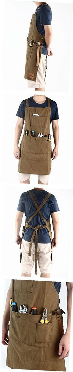 Aprons 175628: - Heavy Duty Waxed Canvas Work Apron With Pockets- Adjustable Up To Xxl For Men -> BUY IT NOW ONLY: $48.64 on eBay!