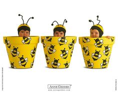 Anne Geddes Baby  Wallpapers (Vol.05)  - Anne Geddes Baby Pictures  - Baby in Bee Pot  4