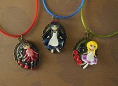 RPG Horror Girls Cameos by LittleBreezesCrafts on Etsy