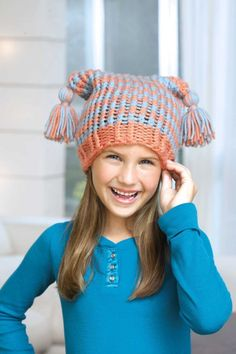Learn to loom knit this hat!