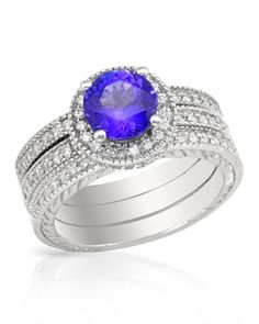 #Tanzanite ring with diamonds. Can be transformed into 3!