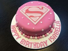 Supergirl Fondant Edible Cake Topper, Superman Logo Edible Cake ...