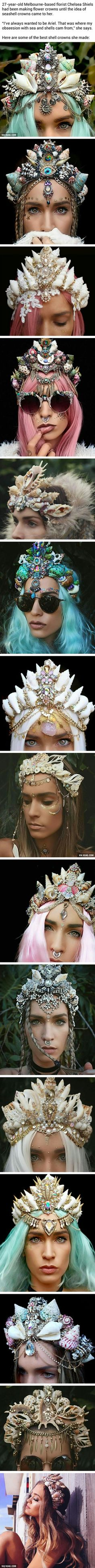Seashell crowns