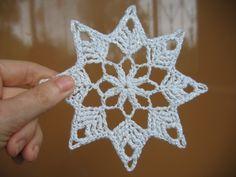 Horgolt csillag leírása:      Kép forrása: http://marrietta.ru    Ezt a csodaszép horgolt csillagot egy orosz oldalon találtam, mintával ...