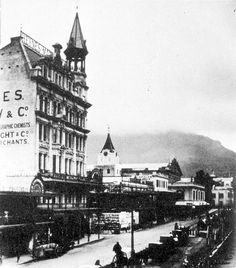 Adderley Street, late 1890s Old Pictures, Old Photos, Vintage Photos, Table Mountain, Beach Tops, Most Beautiful Cities, African History, Cape Town, Homeland