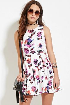 Floral Fit & Flare Dress | Forever 21 #thelatest