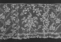 French needle lace flounce 1750-1775
