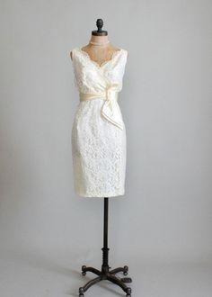 Lace Simple beach wedding dress. vintage 1960. I want this dress lol;) love vintage