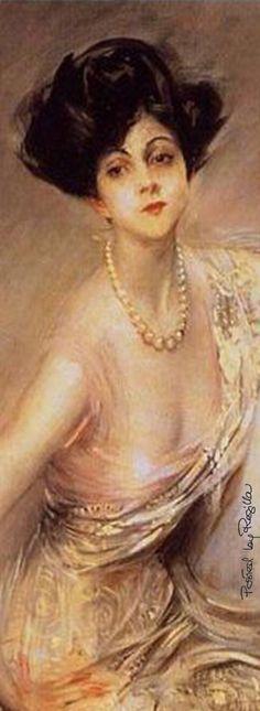 La Marchesa Luisa Casati, dipinto di Giovanni Boldini (dettaglio)