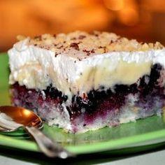 Úžasný čučoriedkový dezert, ktorý sa určite stane najobľúbenejším koláčom všetkých členov vašej rodiny... Vegan Junk Food, Y Food, Food And Drink, Baking Recipes, Cake Recipes, Dessert Recipes, Chestnut Recipes, Czech Recipes, Easy No Bake Desserts
