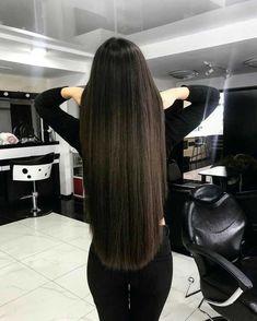 Need advice as well as tips about hair care? Long Dark Hair, Very Long Hair, Long Straight Black Hair, Long Silky Hair, Straight Wigs, Haircuts For Long Hair, Straight Hairstyles, Prom Hairstyles, Beautiful Long Hair