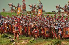 Roman Legion in Combat Order 1st Century A.D DIORAMA 2 30 mm | Exclusive Dioramas | Exclusive Figures and Dioramas | ANDREA DEPOT USA