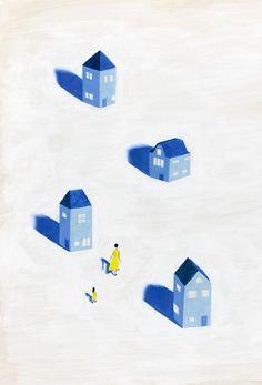 イラストレーション 女性 女の子 旅 物語 illustration girl forest journey