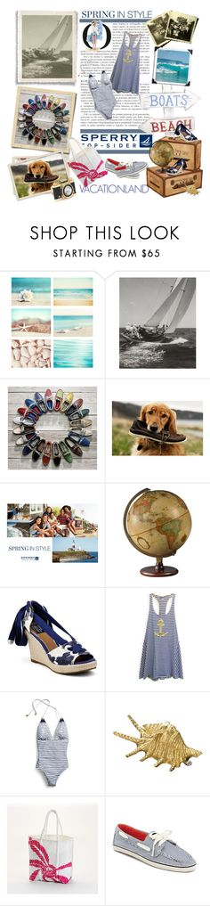 """""""Vacationland with Sperry Top-Sider"""" by anett-r ❤ liked on Polyvore featuring WALL, Sperry, Betsey Johnson and Buccellati"""