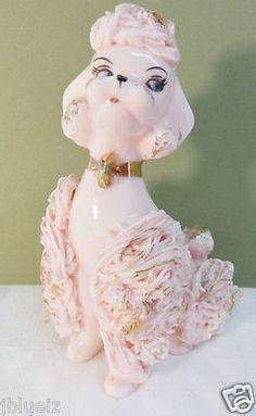Pink Spaghetti Poodle Figurine