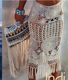 Falda hippie chic