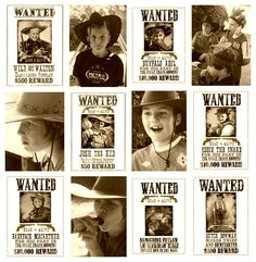 Wild West CampOut Party: Wanted Posters