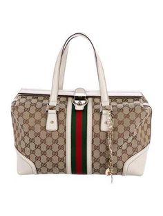 #xmas #Christmas #The RealReal - #Gucci Gucci Treasure Boston Bag - AdoreWe.com