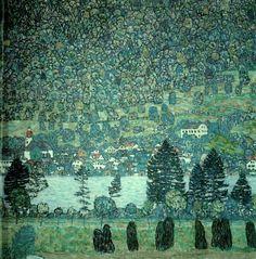 Forest Slope in Unterach on Lake Atter by Gustav Klimt, 1917