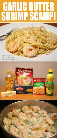 Looking for a quick, easy and flavorful homemade recipes for your family? Look no further than this delicious Garlic Butter Shrimp Scampi, which only takes 15 minutes from prep to plate! My entire family LOVED IT! Seriously, it was gone faster than anything I've ever made! #Food