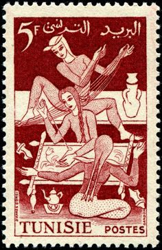 Stamp from Tunisia-1953