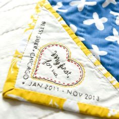 Lovely quilt label by Betsy Siber.