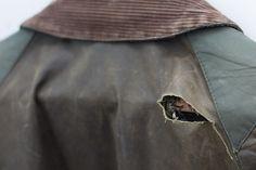 barbour jacket bedale hole shoulder hanger