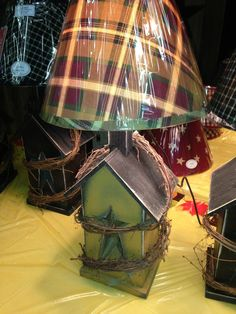 Birdhouse Lamp https://www.facebook.com/pages/The-Frugal-Frog/108169995927601
