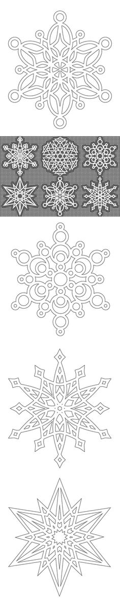 Free Snowflake colouring pages - from Shala at Don't Eat the Paste (these would make wonderful cutting files!)