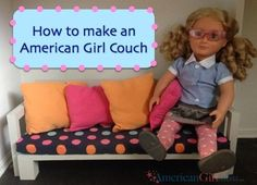American Girl Couch: Living Room Set Series Part 1. Something to make for Sophie's birthday.