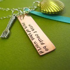 Little Mermaid Cluster Locket Necklace - Spiffing Jewelry #disney #ariel