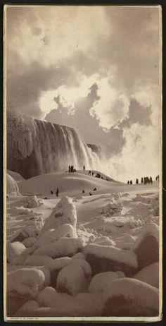 Niagara Falls frozen over 1883 Also 1911 1932 1977