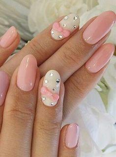Pink & white mani