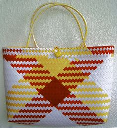 Handmade hand shoulder woven summer shopping travel beach bag Woven Baskets, Basket Weaving, Woven Beach Bags, Shopping Travel, Craft Bags, Handicraft, Tote Bags, Straw Bag, Purses And Bags