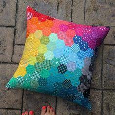 Hexagon pillow More