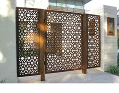 laser cut metal panel - want a smaller version of this pattern for foyer cabinet…