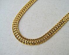 Monet Gold Chain Necklace Vintage Necklace Monet Jewelry