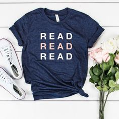 Read Graphic Tee, Love To Read, Library Shirt, English Teacher Gift, Bookworm Gifts, Book Lover Gift