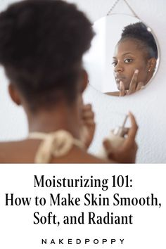 """Moisture is *essential* to healthy skin, particularly the all-important skin barrier. And it's as universal as it gets: Moisturizer should be a skincare staple no matter your skin type, be it dry or — counterintuitive though it may seem — oily. (""""Oftentimes, that particular skin needs it the most,"""" says NakedPoppy skin specialist Tara Parenti.) Here, we'll get into the why and the how of moisturizer, and the reason it's designed to solve so many of your skin concerns. #skincare Smooth Skin, Dry Skin, Your Skin, Clean Beauty, Beauty Tips, Beauty Hacks, Skin Specialist, Layers Of Skin, Best Moisturizer"""