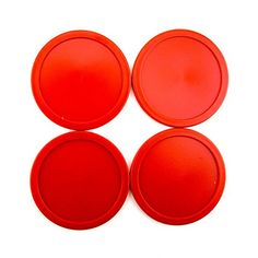 Air Hockey Equipment for Kids - Adorox Home Air Hockey Red Pucks Set 63mm 25 13g Durable USA Seller Red 4 Pucks *** You can get additional details at the image link.