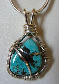 Natural Bisbee Turquoise Sterling Silver by SilverAndStoneWorks, $99.00