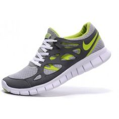 best website 6150e afc7b Nike Free Run 2 Hombre zapatillas running gris claro blanco verde amarillo  PsiLJ