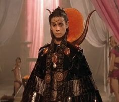 Stargate.  Jaye Davidson iconic costume.  This one was real challege.  Hand sculpted sun disc of Ra with cast opal scarabs trimming his neck.  This costumes cost tens of thousands of dollars at the time....#josephporrodesigns.