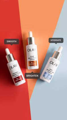 Smooth, brighten, hydrate... or do all three! Olay Serums are made with expertly formulated ingredients to renew skin cells and give you results you want. Serum penetrates deep into the skin's surface and contain powerful ingredients. But serum does NOT replace a moisturizer. Instead, think of it as your new favorite +1. Moisturizer works with your serum to give you healthier looking skin. So, here's how to use it:  Cleanse, apply a couple of drops morning and night, then moisturize.