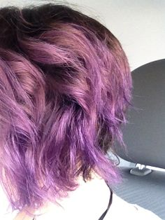 Purple hair with natural roots (not my favorite shade, but this illustrates how I envision it)