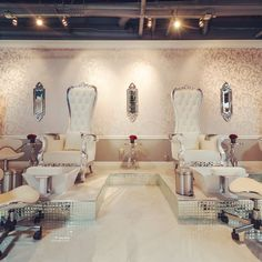 Photo of Vernis Nail Bar - Woodland Hills, CA, United States. Pedicure thrones